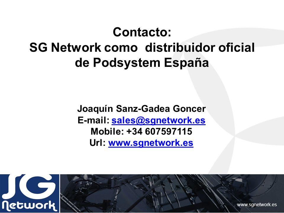 Contacto: SG Network como distribuidor oficial de Podsystem España
