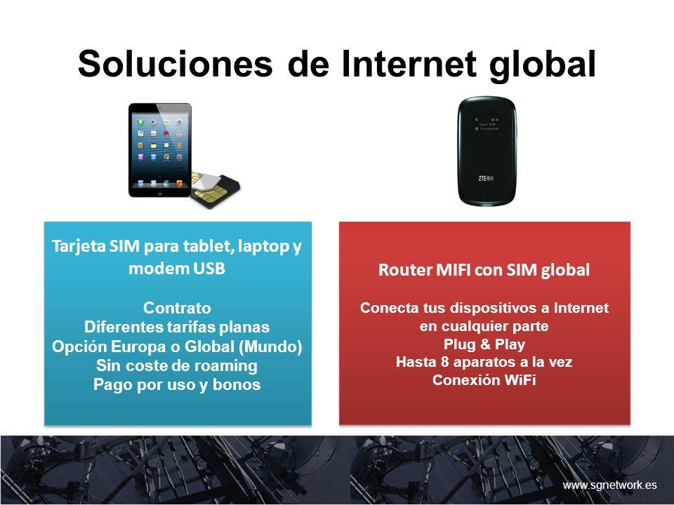 Soluciones de Internet global