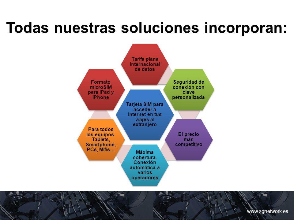 Todas nuestras soluciones incorporan: