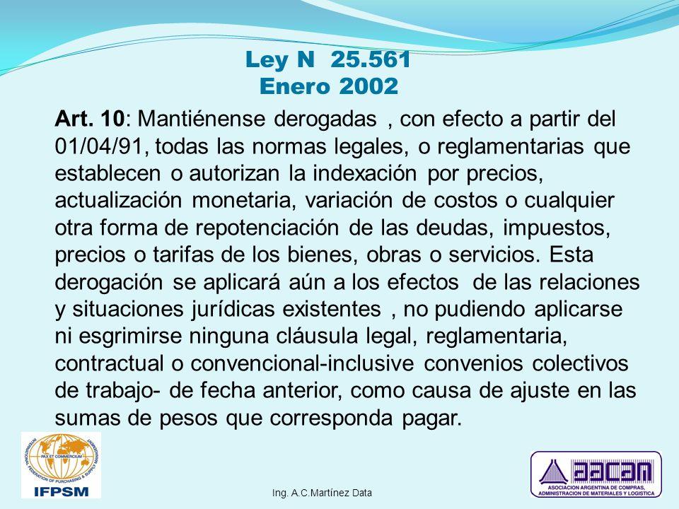Ley N 25.561 Enero 2002