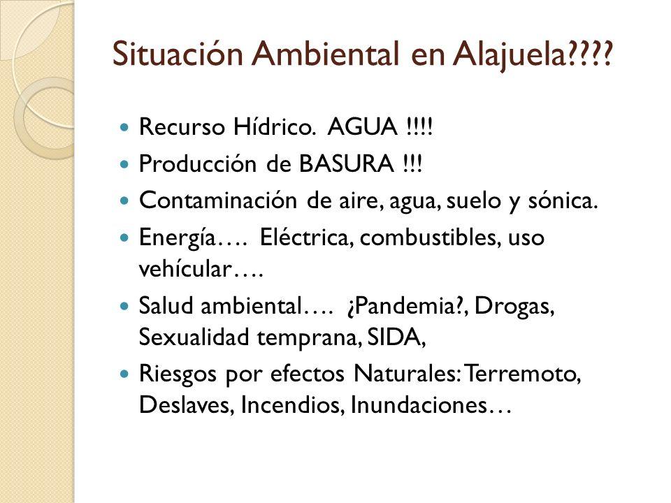 Situación Ambiental en Alajuela