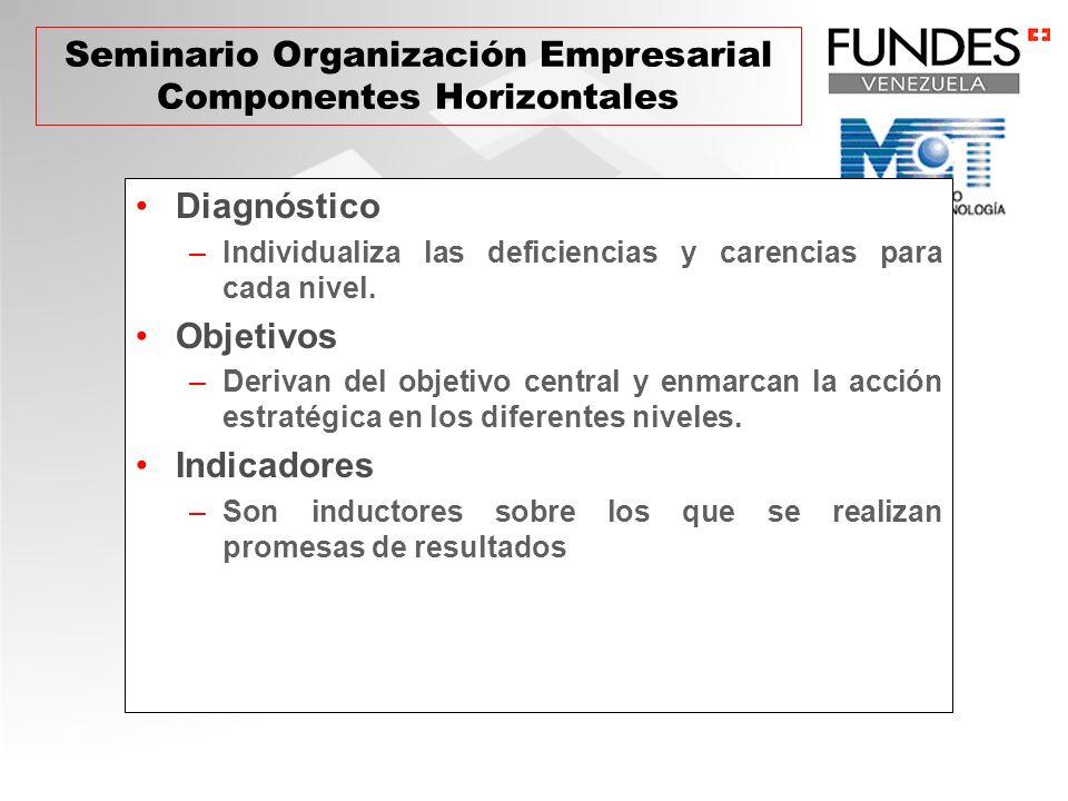 Seminario Organización Empresarial Componentes Horizontales