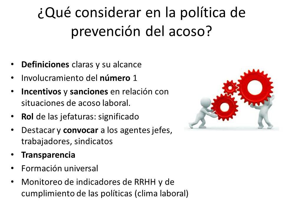 ¿Qué considerar en la política de prevención del acoso