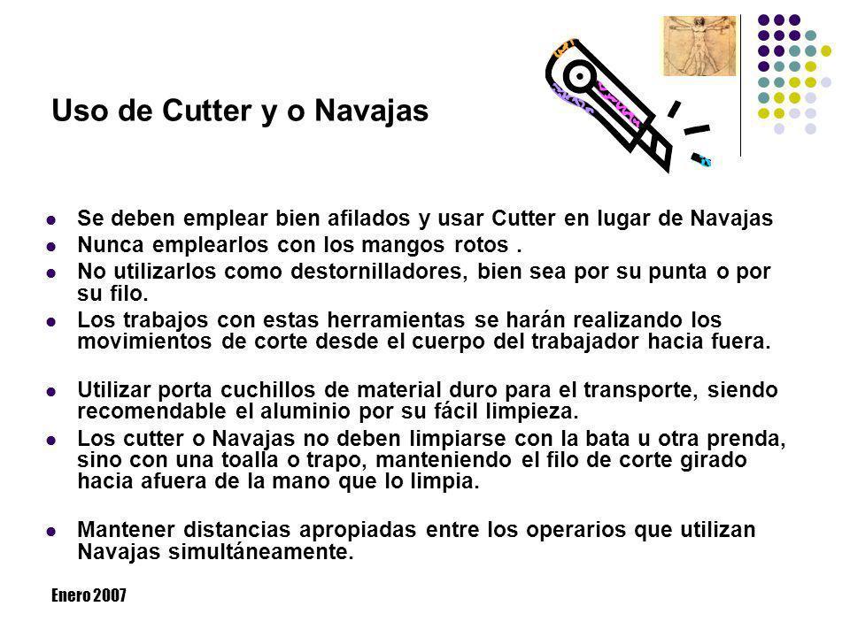Uso de Cutter y o Navajas