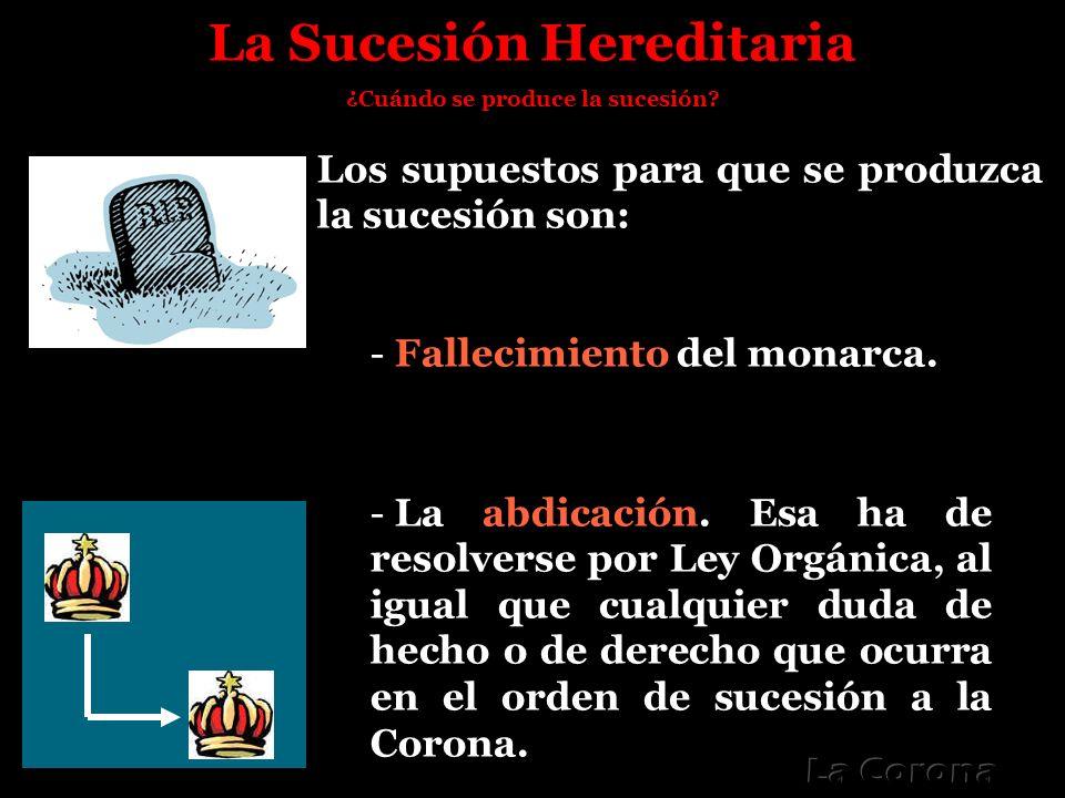 La Sucesión Hereditaria ¿Cuándo se produce la sucesión