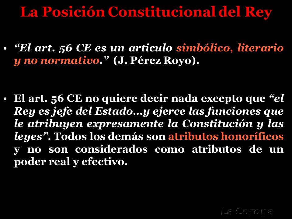 La Posición Constitucional del Rey