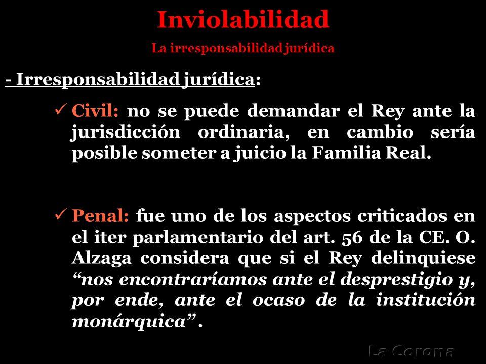 La irresponsabilidad jurídica