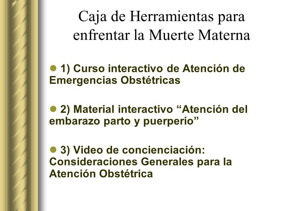 Caja de Herramientas para enfrentar la Muerte Materna
