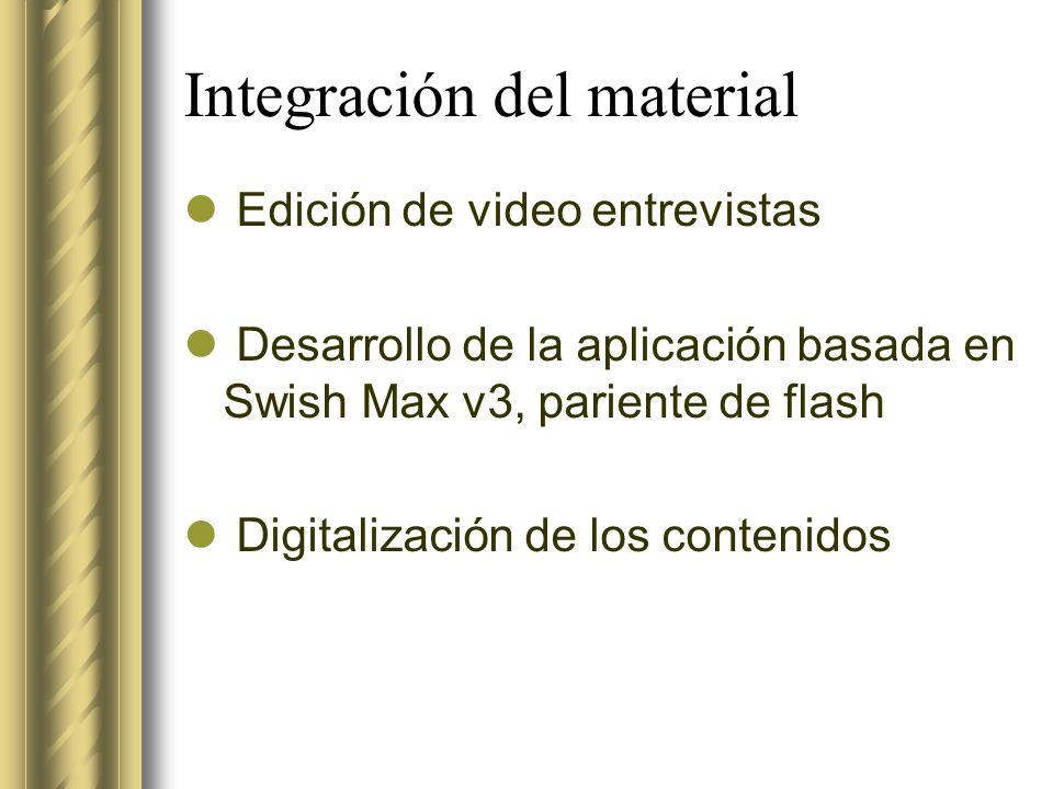 Integración del material