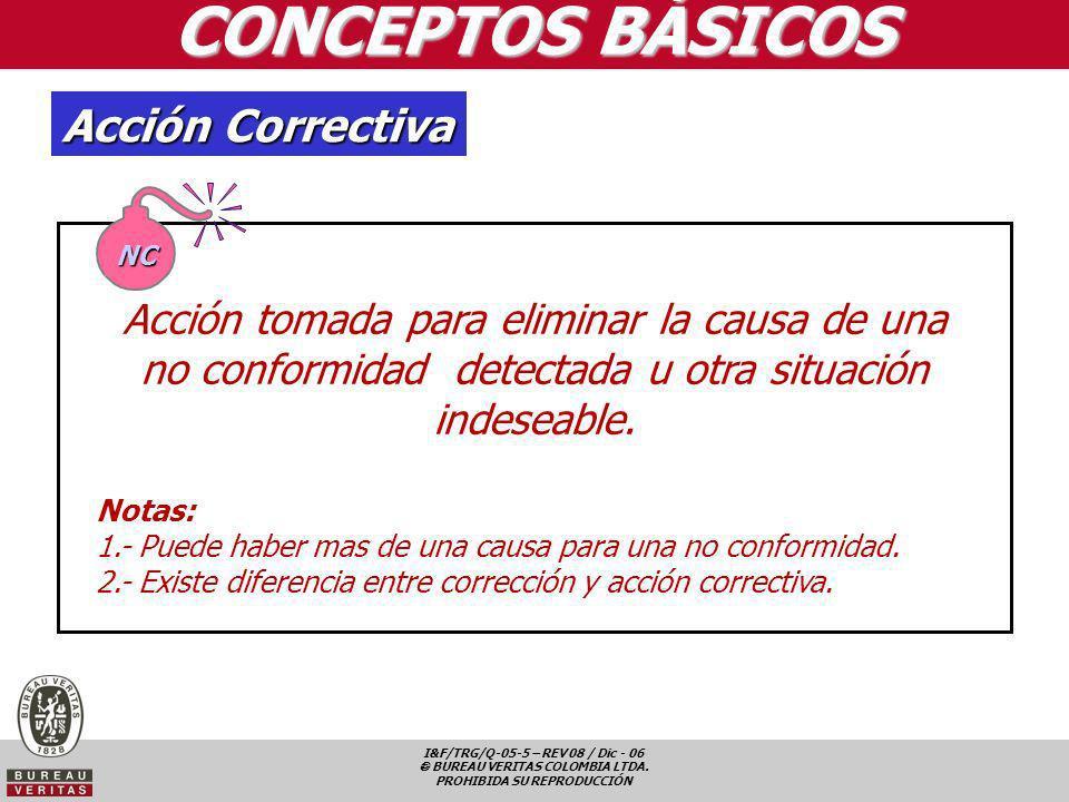 CONCEPTOS BÁSICOS Acción Correctiva