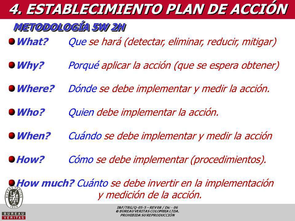 4. ESTABLECIMIENTO PLAN DE ACCIÓN