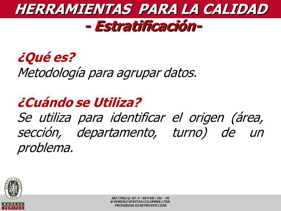 HERRAMIENTAS PARA LA CALIDAD - Estratificación-