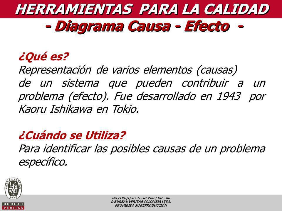 HERRAMIENTAS PARA LA CALIDAD - Diagrama Causa - Efecto -