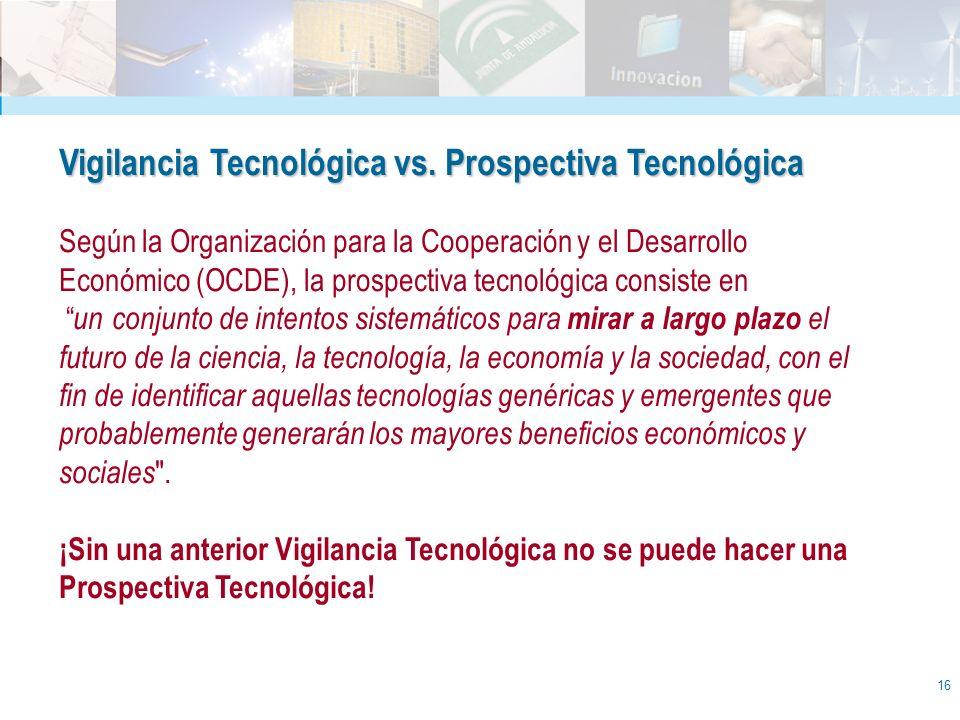 Vigilancia Tecnológica vs. Prospectiva Tecnológica