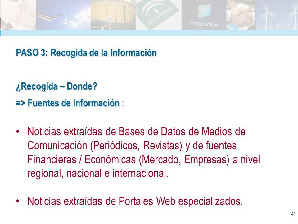 Noticias extraídas de Portales Web especializados.