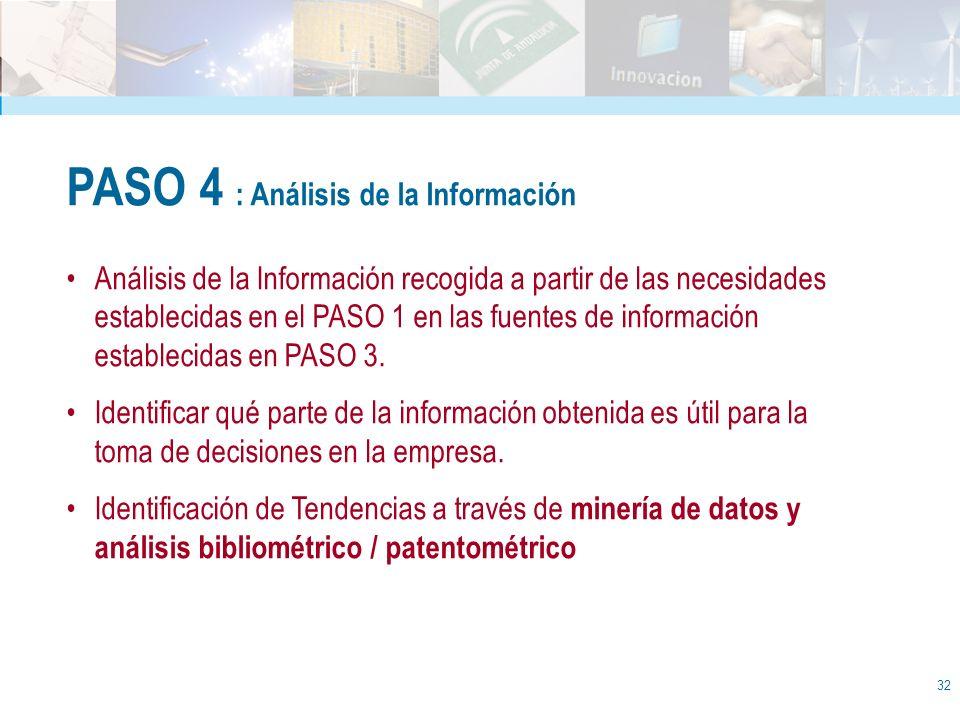 PASO 4 : Análisis de la Información