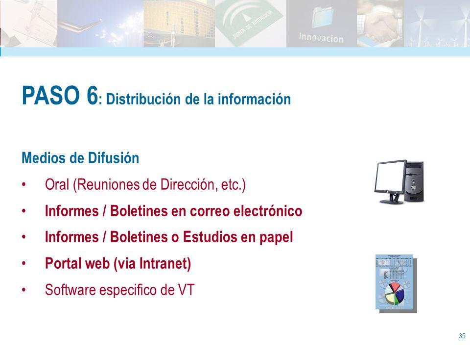 PASO 6: Distribución de la información