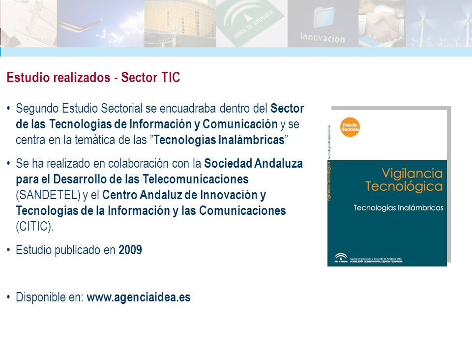 Estudio realizados - Sector TIC