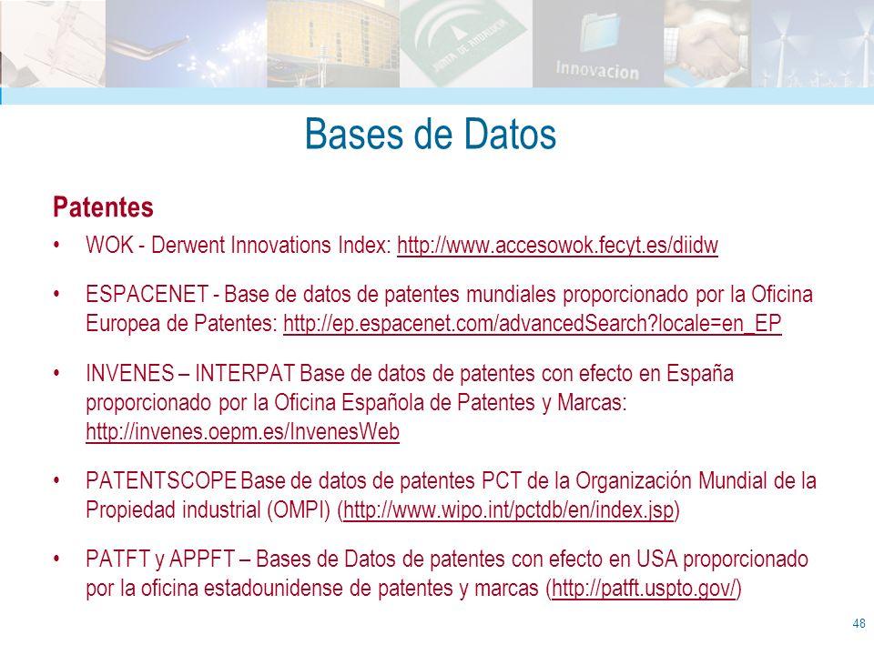 Bases de Datos Patentes