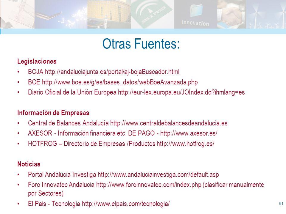 Otras Fuentes: