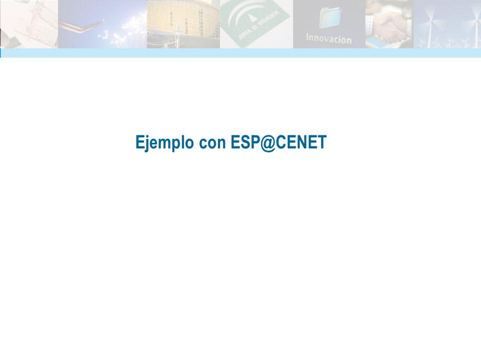 Ejemplo con ESP@CENET