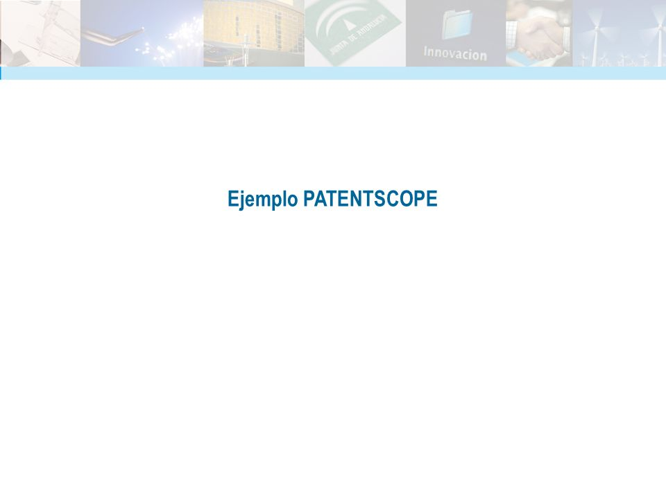 Ejemplo PATENTSCOPE