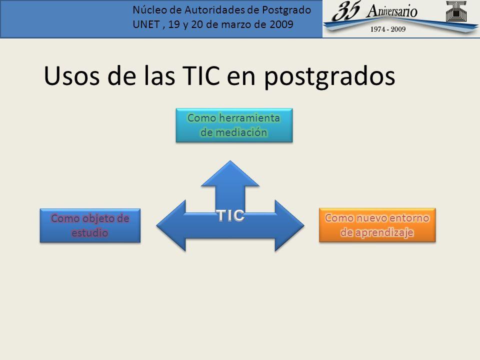 Usos de las TIC en postgrados