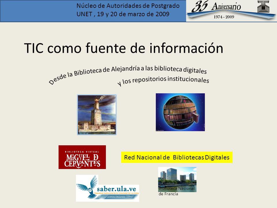 TIC como fuente de información
