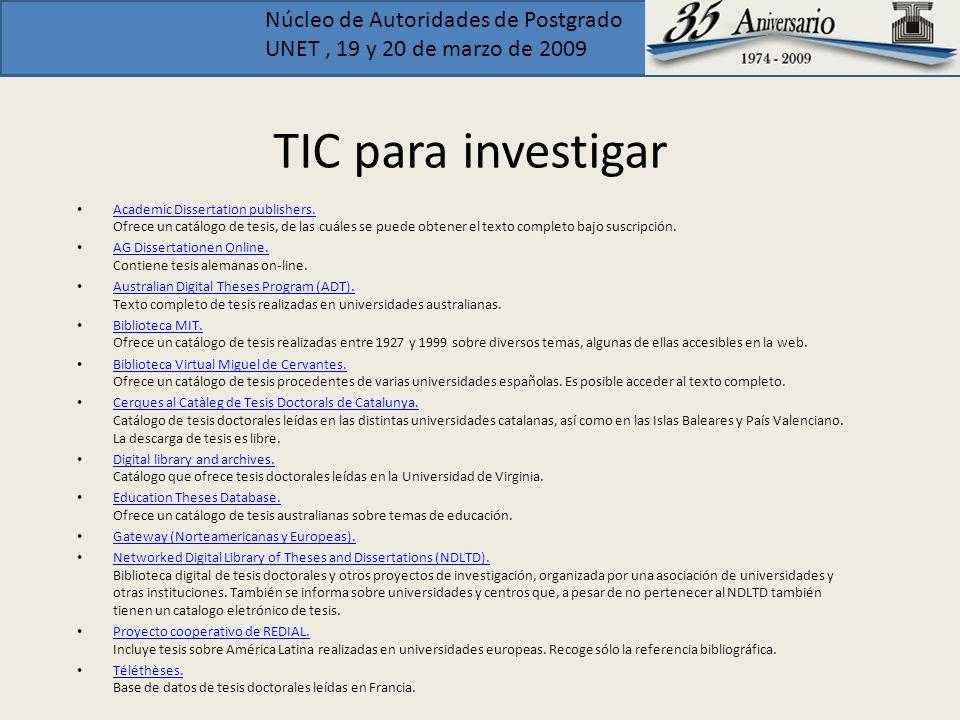 TIC para investigar