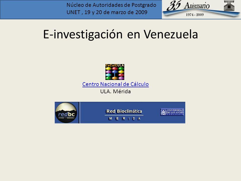 E-investigación en Venezuela