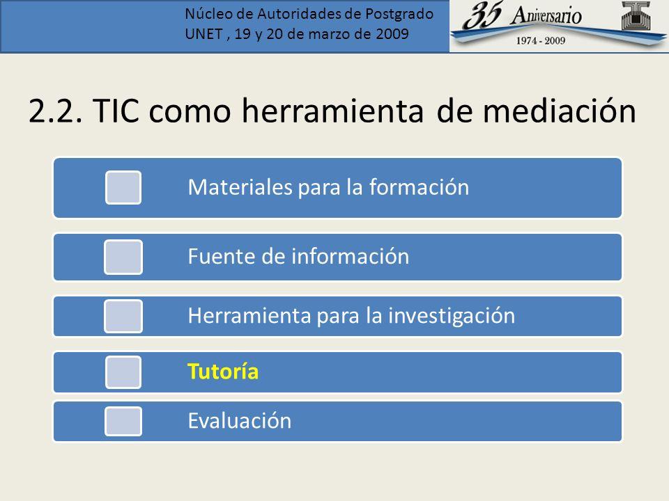 2.2. TIC como herramienta de mediación