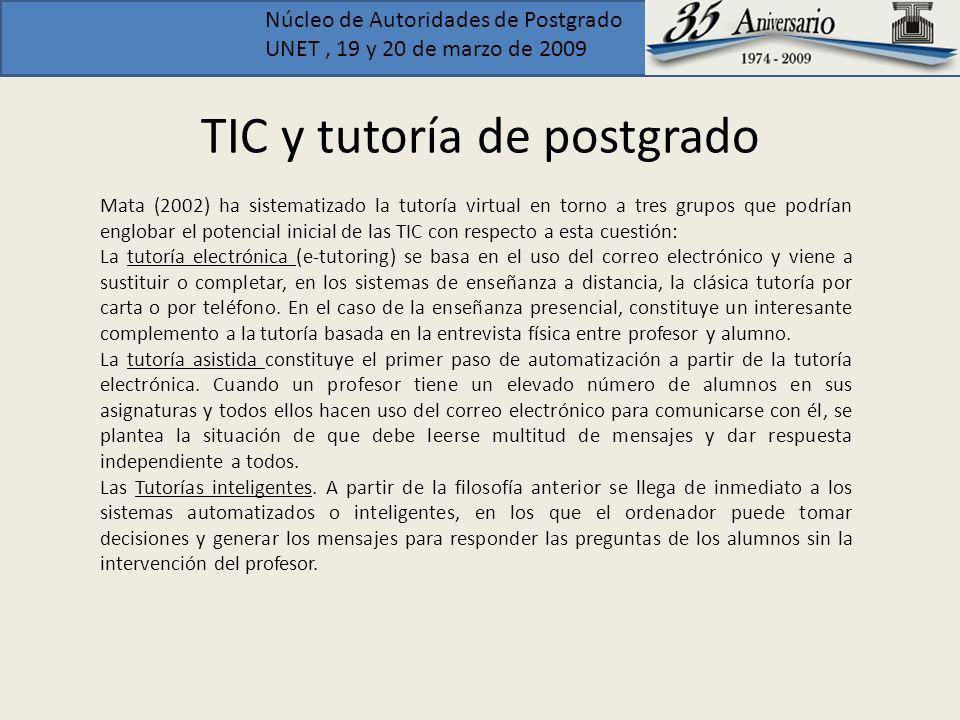 TIC y tutoría de postgrado