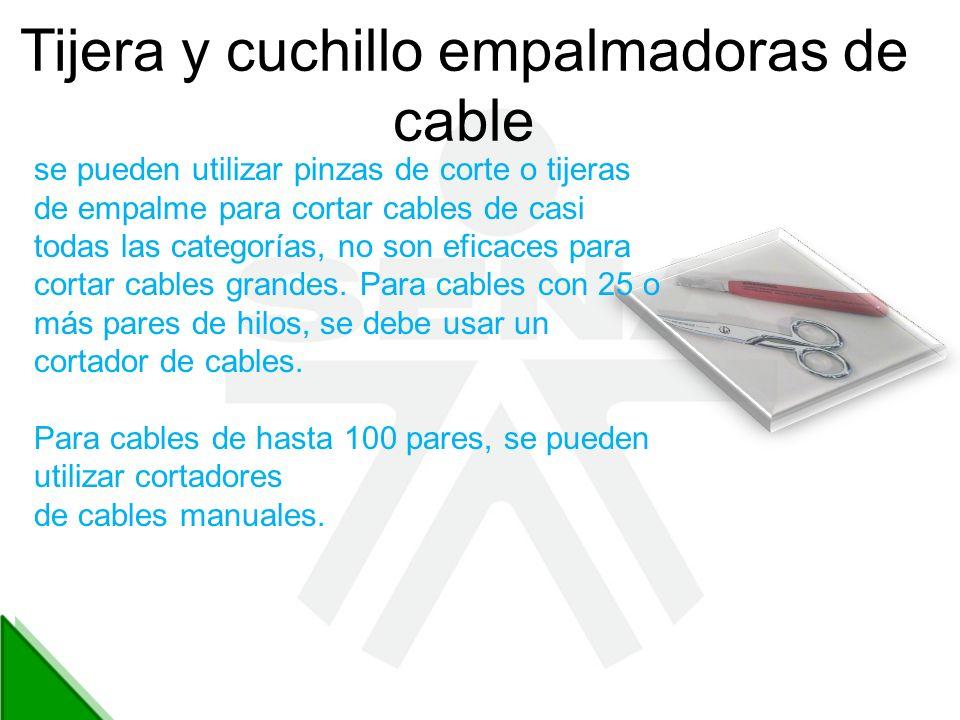 Tijera y cuchillo empalmadoras de cable