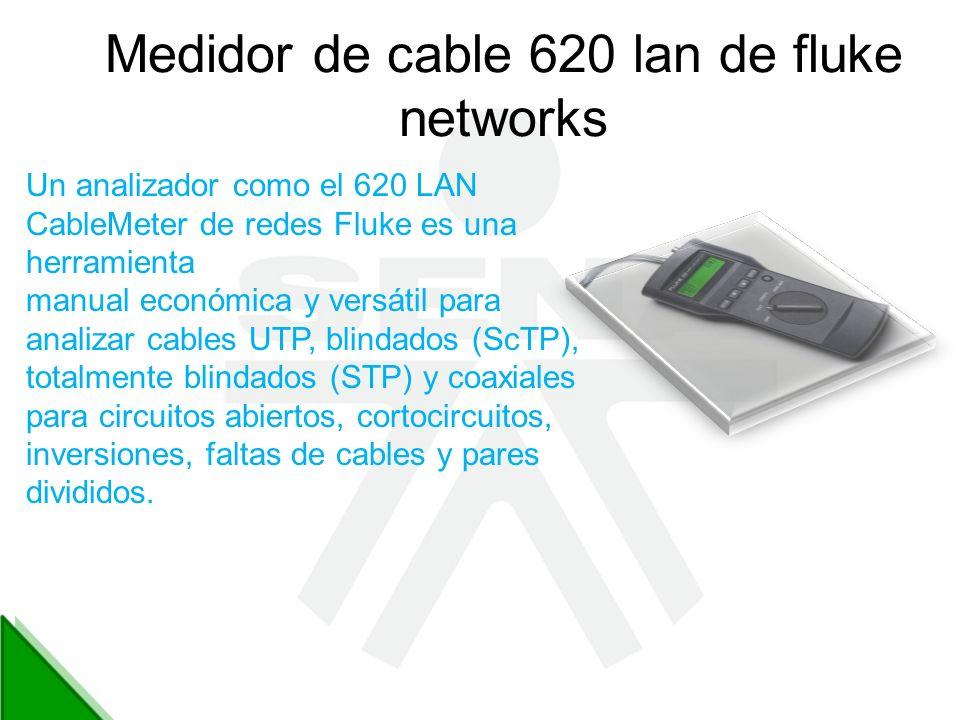 Medidor de cable 620 lan de fluke networks