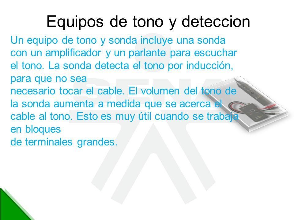 Equipos de tono y deteccion