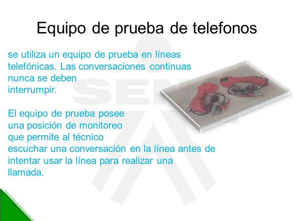 Equipo de prueba de telefonos