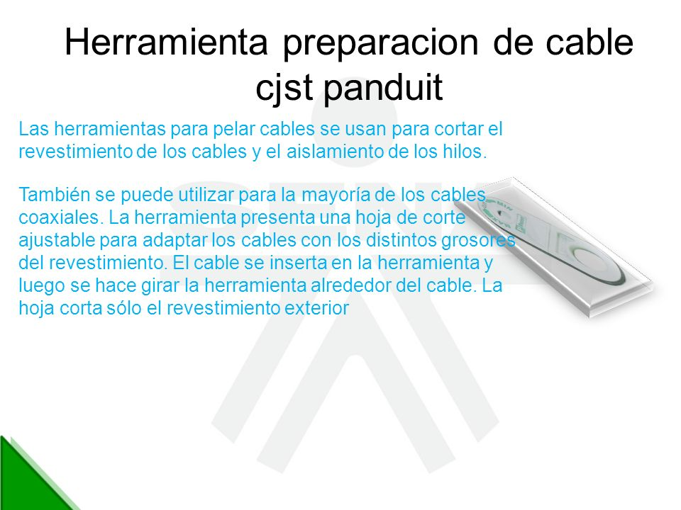 Herramienta preparacion de cable cjst panduit