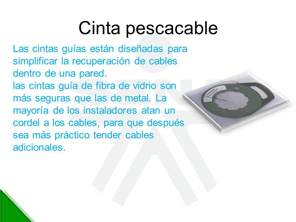 Cinta pescacable Las cintas guías están diseñadas para simplificar la recuperación de cables. dentro de una pared.