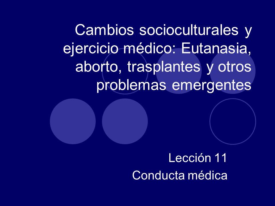 Lección 11 Conducta médica