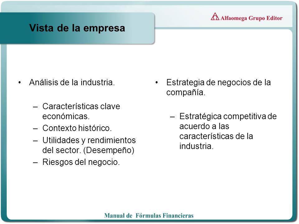 Vista de la empresa Análisis de la industria.