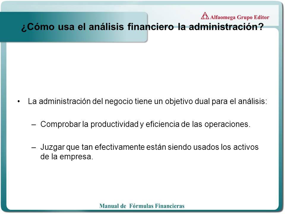 ¿Cómo usa el análisis financiero la administración