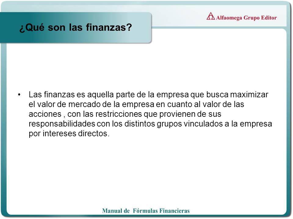 ¿Qué son las finanzas