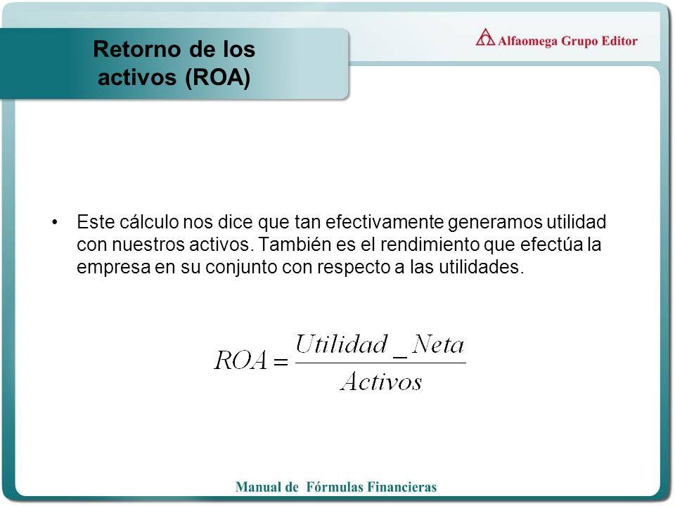 Retorno de los activos (ROA)
