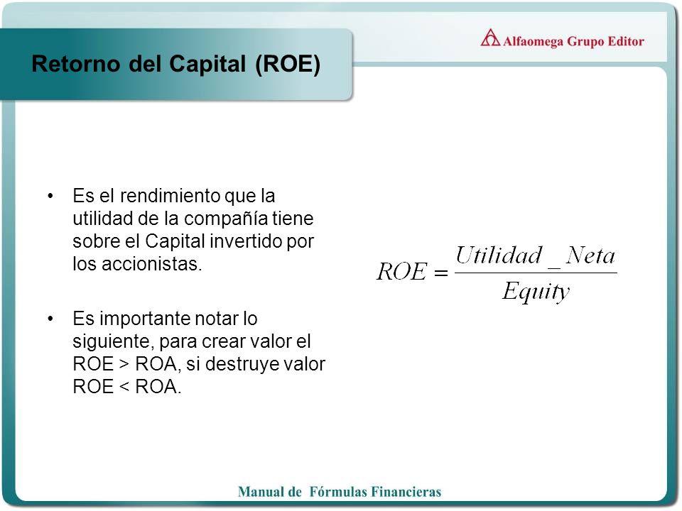 Retorno del Capital (ROE)