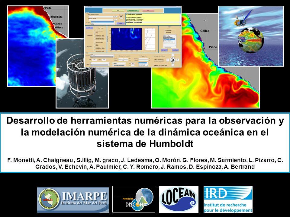 Desarrollo de herramientas numéricas para la observación y la modelación numérica de la dinámica oceánica en el sistema de Humboldt