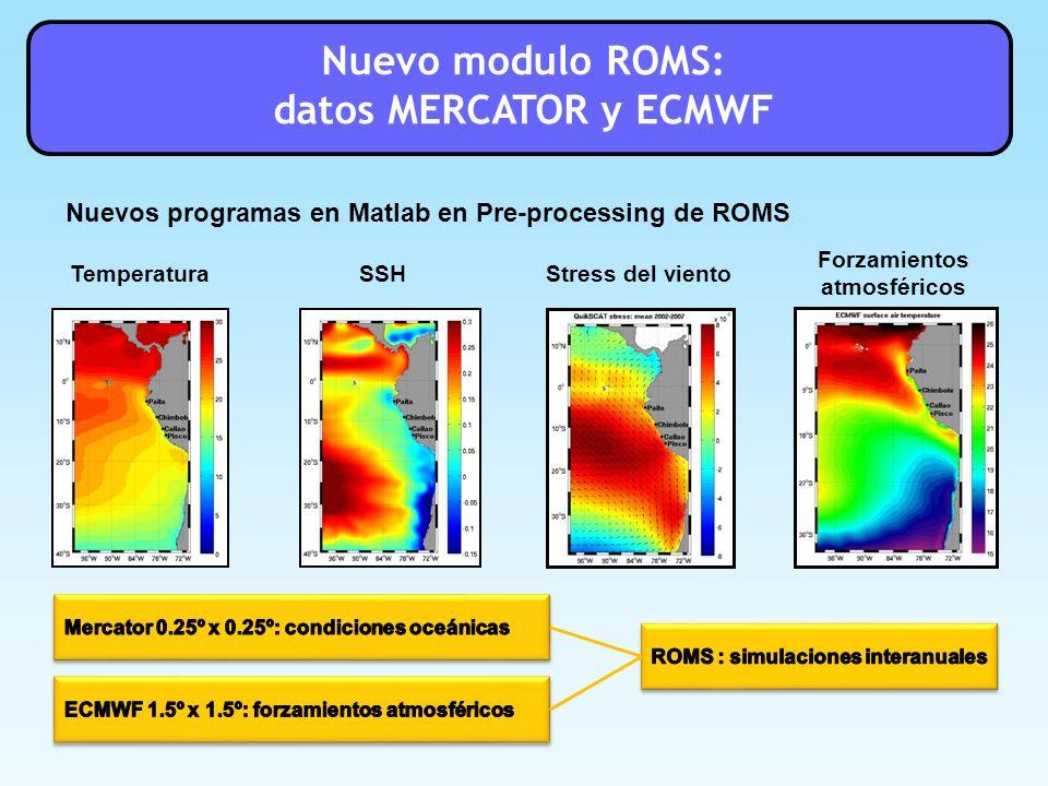 Forzamientos atmosféricos ROMS : simulaciones interanuales