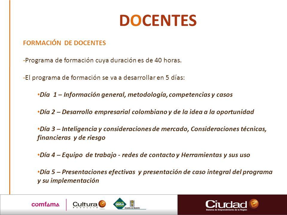 DOCENTES FORMACIÓN DE DOCENTES