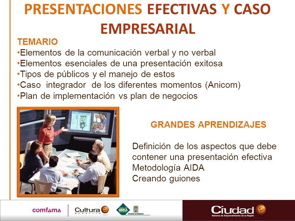 PRESENTACIONES EFECTIVAS Y CASO EMPRESARIAL