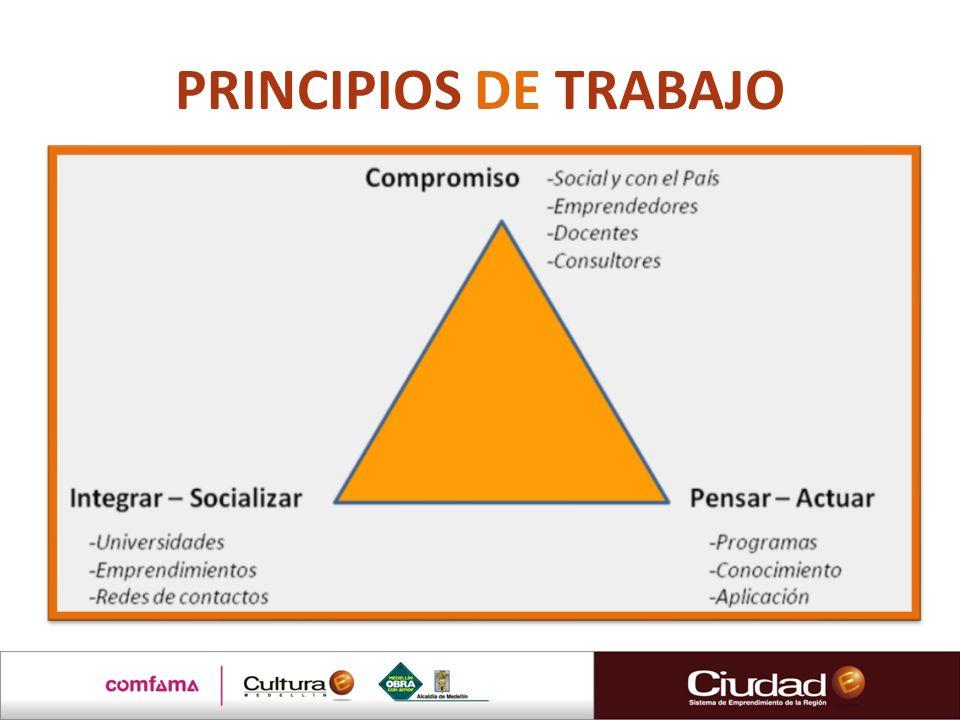 PRINCIPIOS DE TRABAJO