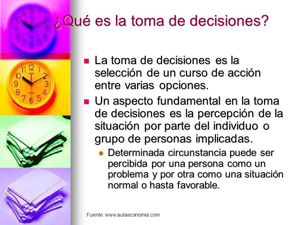 ¿Qué es la toma de decisiones